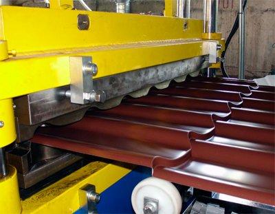 Линия по производству металлочерепицы для кровли крыши